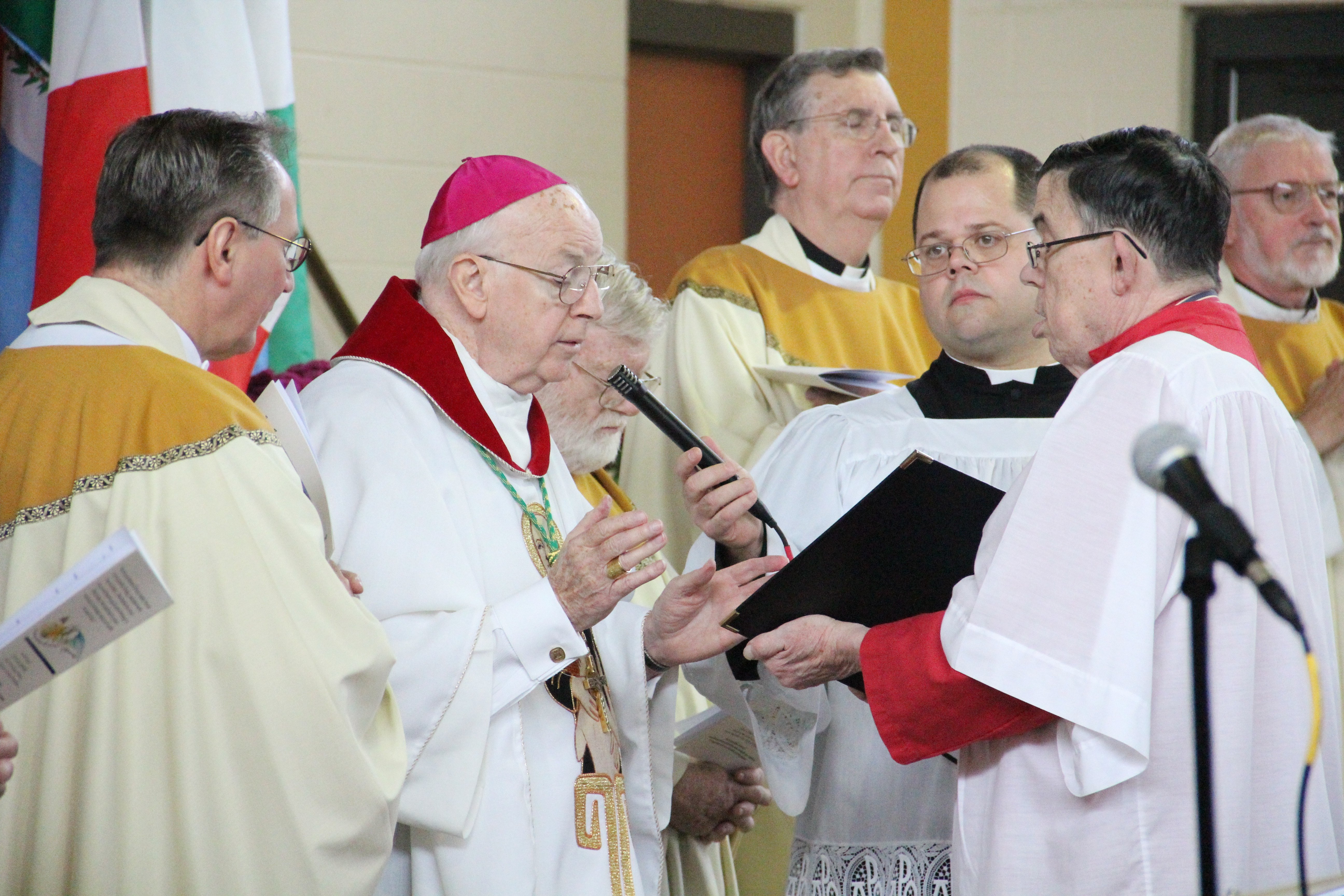 Retired Auxiliary Bishop Robert P. Maginnis celebrated Mass Oct. 24 at Don Guanella Village in Springfield, Delaware County, to commemorate the canonization of Blessed Don Louis Guanella.