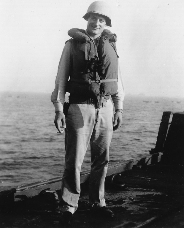 Joseph P. Vaghi Jr., the U.S. Navy's youngest beachmaster at Omaha Beach in Normandy during the June 6, 1944, D-Day invasion, died at a Maryland retirement home Aug. 25 at age 92. He is pictured in an undated photo. (CNS photo/courtesy Vaghi family)