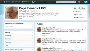 Pope Benedict 16 Prohibits Fake Profile on Social Media