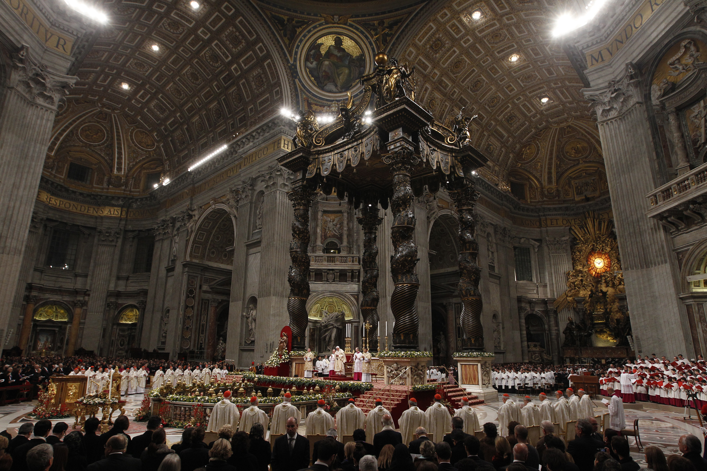 Peter s rome mass schedule pope benedict xvi celebrates christmas