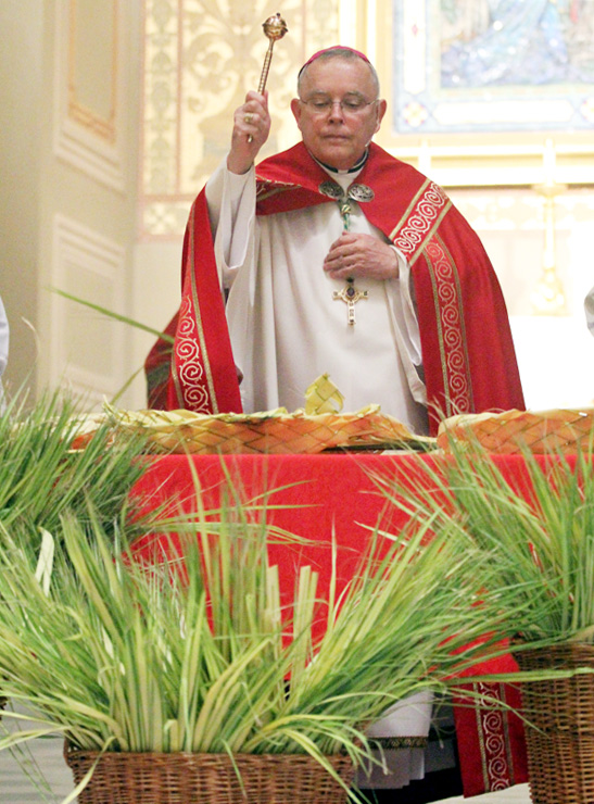 Palm Sunday Mass begins Holy Week, liturgies at Cathedral