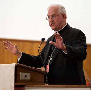 Archbishop Joseph E. Kurtz of Louisville, Ky., president of the U.S. Conference of Catholic Bishops. (CNS file photo/Mary D. Dillard, One Voice)