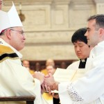 Jason Buck promises obedience to Archbishop Chaput and his successors at the diaconate ordination on May 11.
