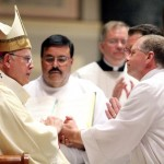 Lyle Benner promises obedience to Archbishop Chaput and his successors at the diaconate ordination.