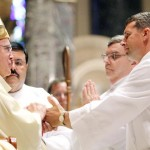Daniel DiCarlo, Jr. promises obedience to Archbishop Chaput and his successors at the diaconate ordination.