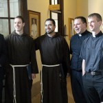 Returning and new seminarians are all smiles on move-in day at Saint Charles Seminary.