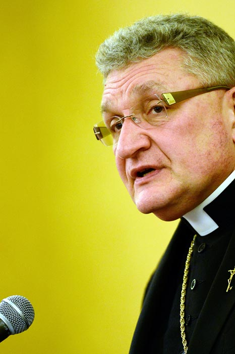 Pittsburgh Bishop David A. Zubik applauded the Nov. 21 ruling of a U.S. district judge who granted an injunction on the lawsuit of the Pittsburgh and Erie dioceses on behalf of church-affiliated organizations objecting to the HHS contraceptive mandate. (Chris Heisey/The Catholic Witness)