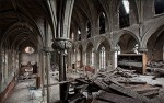 A view from the choir loft of Assumption B.V.M. Church in Philadelphia shows the nave and galleries of the church located at 11th and Spring Garden streets. Assumption Parish was founded in 1845 and closed in 1995. (Courtesy Matthew Christopher at abandonedamerica.us)