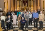 Former parishioners gather again at Church of the Gesu in North Philadelphia to celebrate the 125th anniversary of the church, which now serves as a chapel to nearby St. Joseph's Preparatory School. The parish closed in 1993.