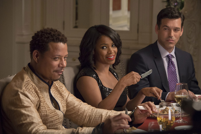 "Terrence Howard, Nia Long and Eddie Cibrian star in a scene from the movie ""The Best Man Holiday."" The Catholic News Service classification is O --  morally offensive. The Motion Picture Association of America rating is R -- restricted. Under 17 requires accompanying parent or adult guardian. (CNS/Universal Pictures)"