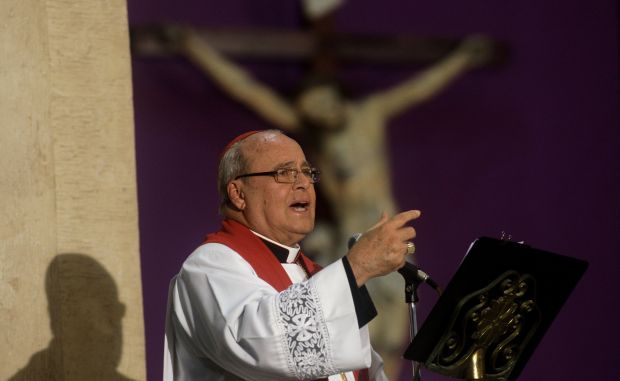 Cardinal Jaime Ortega Alamino of Havana a Good Friday Mass in Havana April 6, 2012. (CNS photo/Reuters)