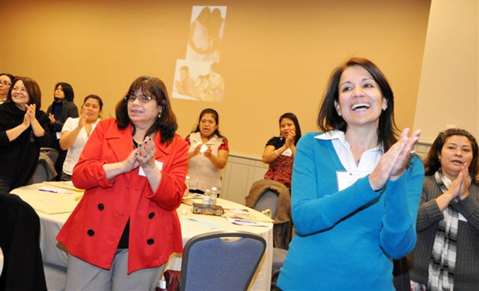 Participants at the last archdiocesan women's conference enjoyed the program and the camaraderie. (Photo by Sarah Webb)