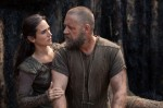 "Jennifer Connelly and Russell Crowe star in a scene from the movie ""Noah."" (CNS photo/Paramount)"