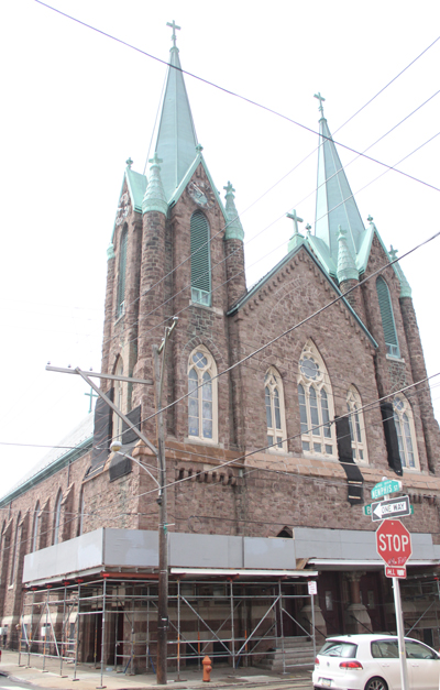 St. Laurentius Church at Memphis and East Berks Streets in Philadelphia's Fishtown neighborhood. (Photo by Sarah Webb)