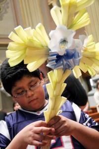 Michael Justo from St. Thomas Aquinas Parish in Philadelphia attended Mass with his family.