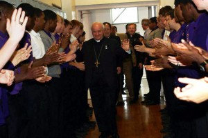 Roman Catholic, Hallahan students give rousing welcome to ...