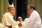 Deacon Joseph W. Bernauer Jr. makes the promises of his ordination to Archbishop Chaput.