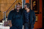 "CeeLo Green and Mark Ruffalo star in a scene from the movie ""Begin Again."" (CNS/The Weinstein Company)"