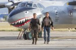 "Sylvester Stallone and Arnold Schwarzenegger star in a scene from the movie ""The Expendables 3."" (CNS photo/Lionsgate)"
