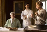 "Om Puri, Manish Dayal and Helen Mirren star in a scene from the movie ""The Hundred-Foot Journey."" (CNS photo/Disney)"