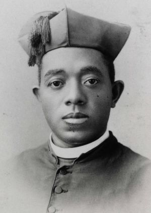 Father Augustine Tolton, also known as Augustus, is pictured in a photo from an undated portrait card. Born into slavery in Missouri, he was ordained a priest April 24, 1886. He served as pastor at St. Joseph Church in Quincy, Ill., and later established St. Monica's Church in Chicago. Chicago Cardinal Francis E. George has formally closed the investigation into the life and virtues of the sainthood candidate. (CNS photo/courtesy of Archdiocese of Chicago Archives and Records Center)