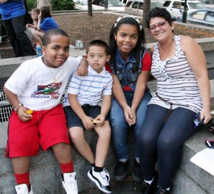 Amir Coleman, Louis Alicea (Our Lady of Confidence School), Leilani Coleman, Elsa Alicea from Holy Innocence.