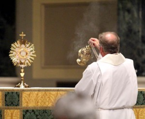 Fr Gil at beginning of holy hour.