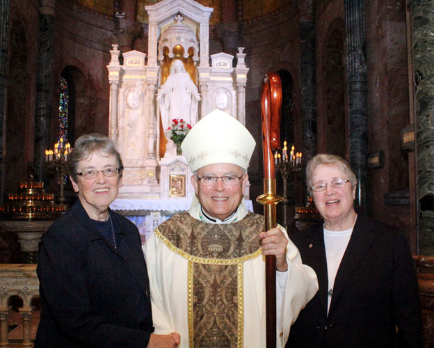 Sister Louise Galahue (the Visitrix for the Province of St. Louis), Chaput, Sister Mary Francis Martin (sister servant of the local house)