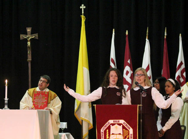 (priest- Fr. Joseph McCaffrey school minster)