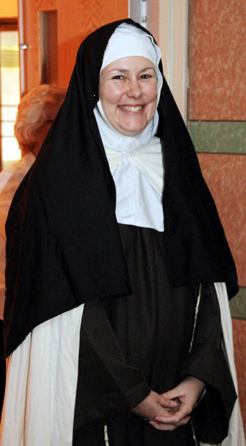 Sr. Kimberly Miller IHM dresses as St Terese