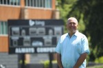 Father Tom Belleque poses at the Seattle Seahawks' Virginia Mason Athletic Center this summer. (CNS photo/Corky Trewin, Seattle Seahawks)