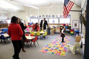 Parents check out their kids classrooms for CSW