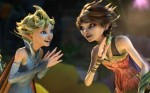 "Dawn, voice of Meredith Anne Bull, and Marianne, voice of Evan Rachel Wood, star in a scene from the movie ""Strange Magic."" (CNS photo/Lucasfilm)"