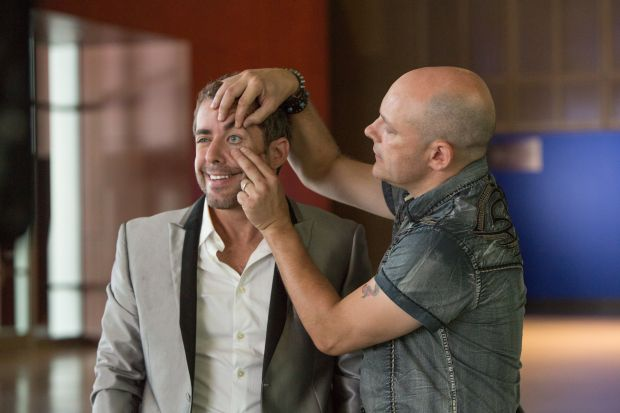 "Jason D. Jones and Rob Corddry star in a scene from the movie ""Hot Tub Time Machine 2."" (CNS photo/Paramount)"
