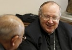 Pope Francis has appointed Bishop Robert W. McElroy, 61, bishop of the Diocese of San Diego. Bishop McElroy has served as an auxiliary bishop of San Francisco since 2010. He succeeds the late Bishop Cirilo Flores, who died September 6, 2014. Bishop McElroy is pictured in a 2012 photo. (CNS/Paul Haring)