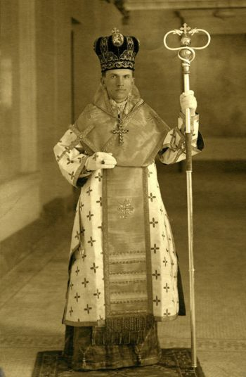Blessed Nykyta Budka is pictured as a newly consecrated bishop in Lviv, Ukraine, in 1912. (CNS photo/courtesy of Archives of the Archeparchy of Winnipeg)