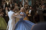 "Lily James and Richard Madden star in a scene from the movie ""Cinderella."" (CNS photo/Disney Enterprises)"