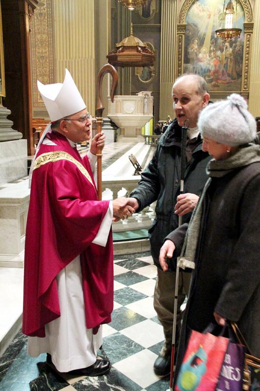 Archbishp Chaput greets Joe Sickora and his friend Mary Dressler from St Monica Parish AAAAAAAAAAAAAAAAAAAAAAAAAAAAAAAAAAAAAAAAAAAAAAAAAAAAAAAAAAAAAAAAAAAAAAAAAAAAA