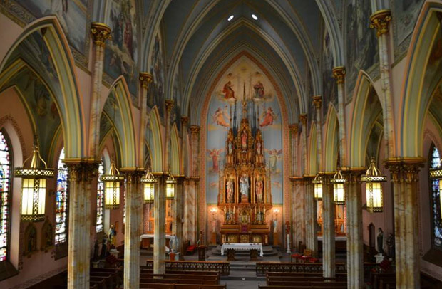 The interior of St. Laurentius Church (Facebook)