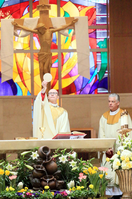 Bisohp Timothy Senior (who helps on the weekends) and Fr Stephen Leva pastor