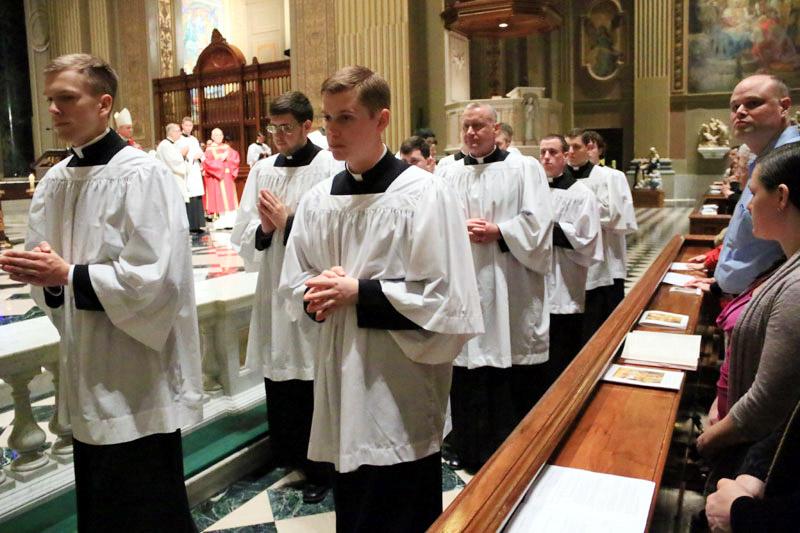seminarians in recessional