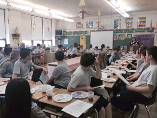 Students at Queen of Angels Regional Catholic School in Willow Grove.