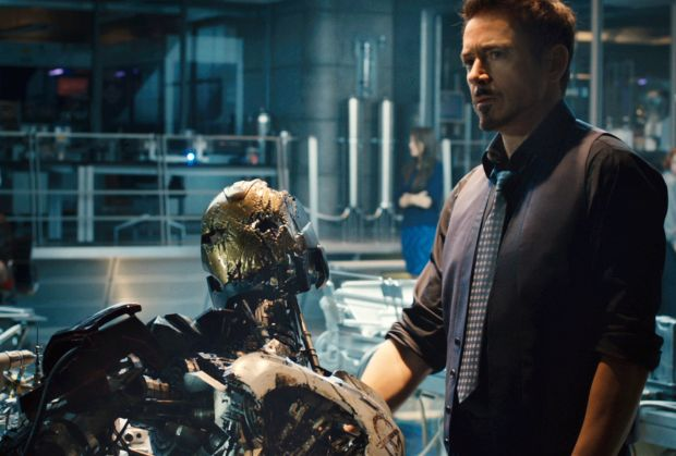 "Robert Downey Jr. stars in a scene from the movie ""Avengers: Age of Ultron."" (CNS photo/Marvel)"