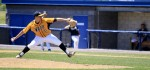 Despite a scare in the last inning, Archbishop Wood pitcher Joe Lancellotti dominated for the Vikings on the mound in their Catholic League-winning win over Neumann-Goretti May 23 at Immaculata University. (Photos by Sarah Webb)