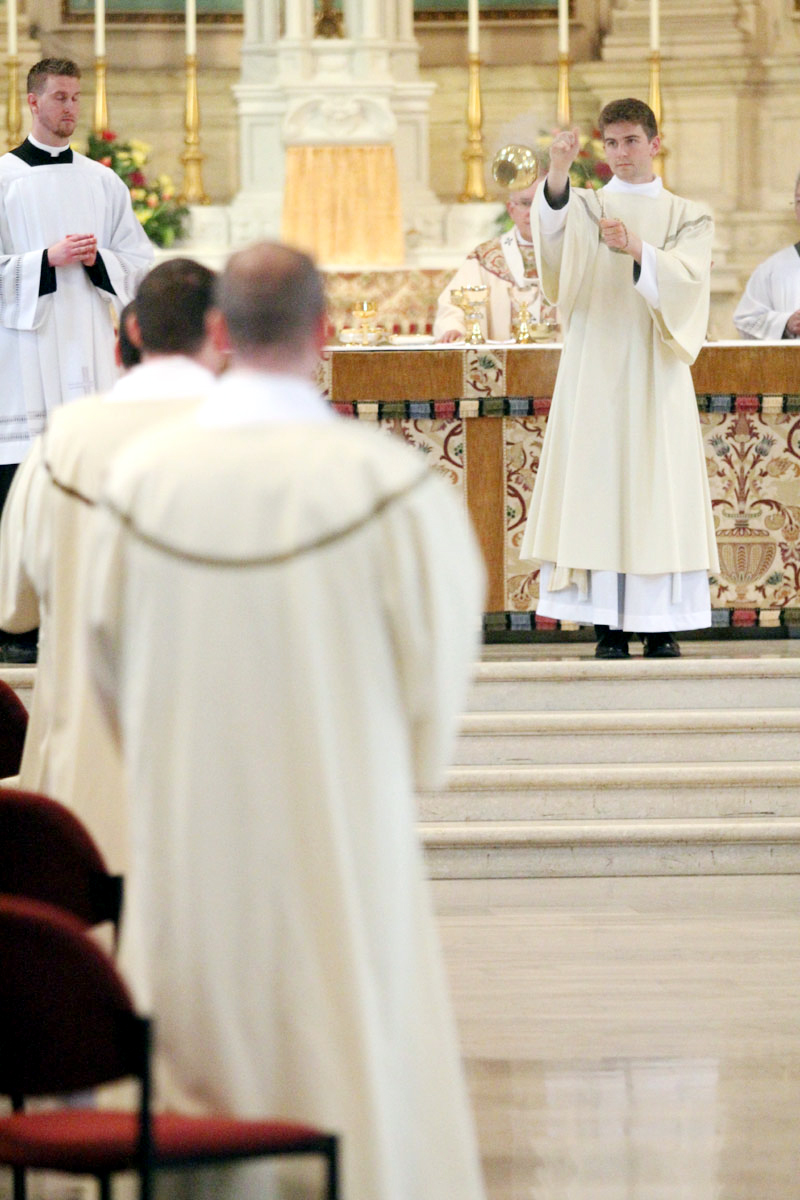 Matthew Biedrzycki incenses new fellow deacons