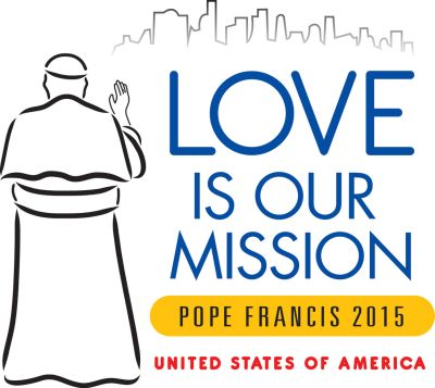 This is the official logo for the Sept. 22-27 visit of Pope Francis to the United States. (CNS illustration/USCCB)
