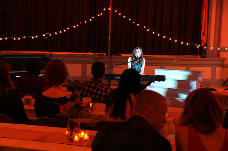 Teresa Paterson sings during her opening set at the concert. (Sarah Webb)