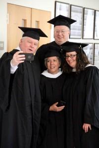 Thomas Gilmartin takes a selfie with  Christine Rizzo, Jacob Marquart, Deborah Smaldore