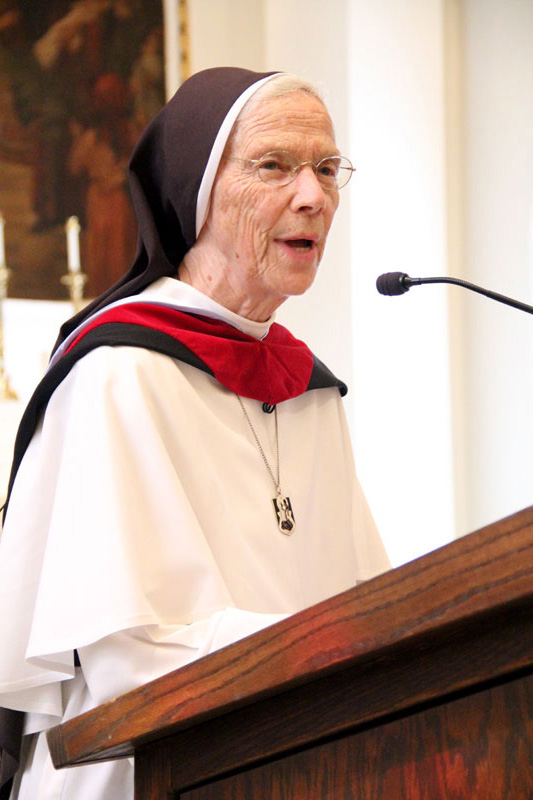Guest speaker Mother Assumpta Long, O.P.
