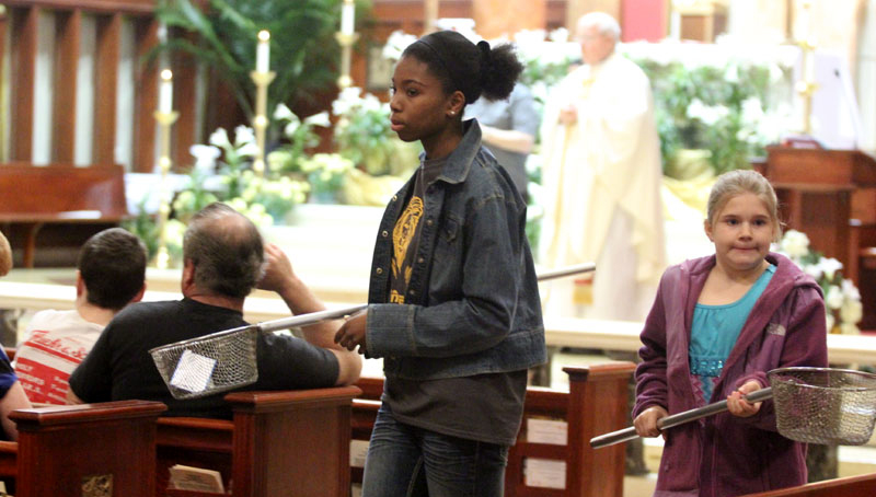 Students from the PREP program serve as ushers